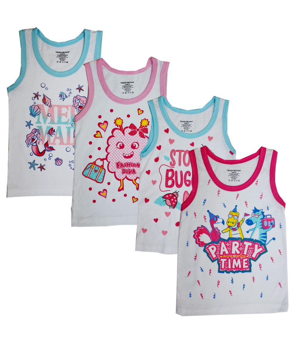 Newborn Girls Tank Tops Printed