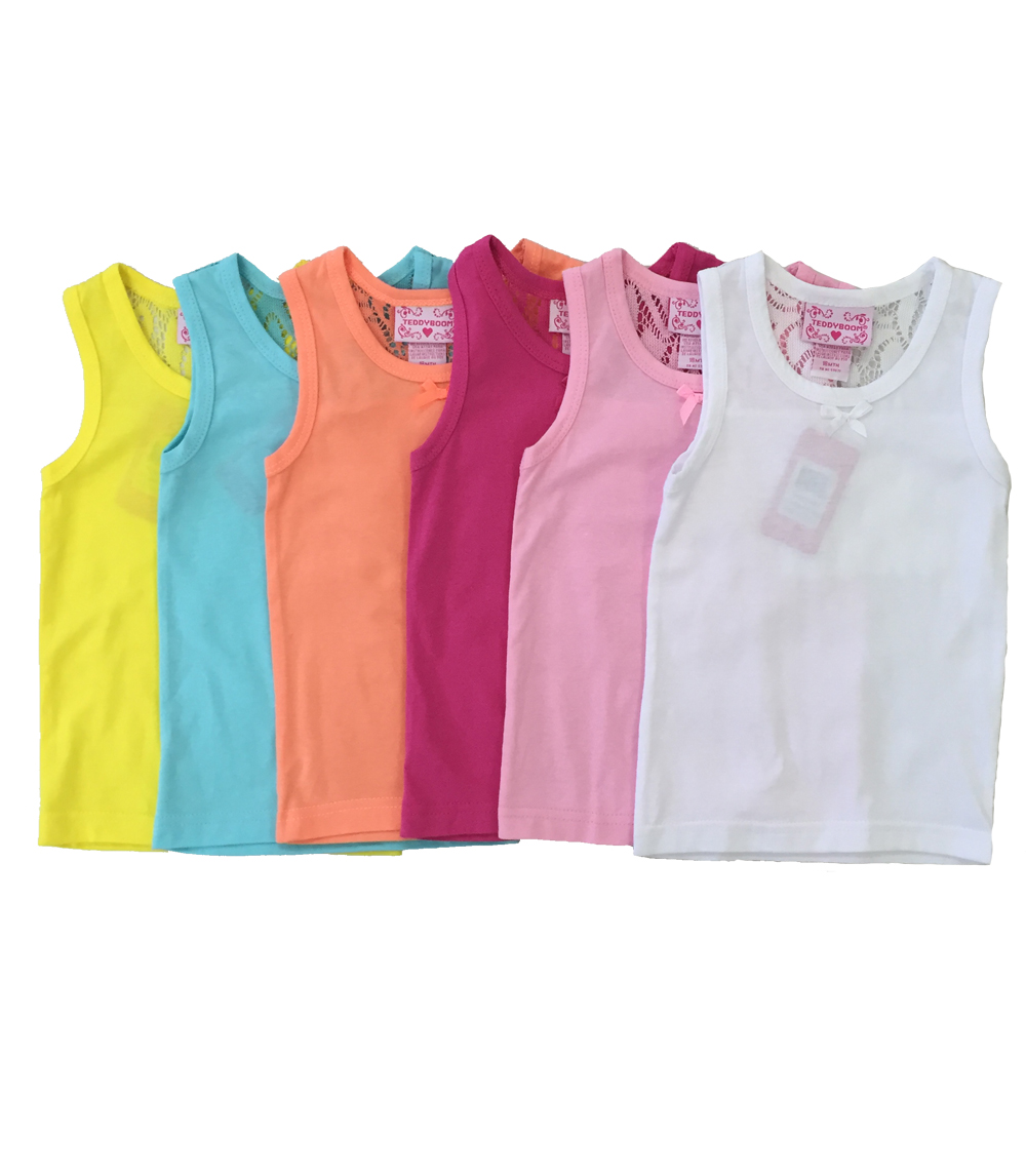 Girls Tank Tops White - Size: 4-6X