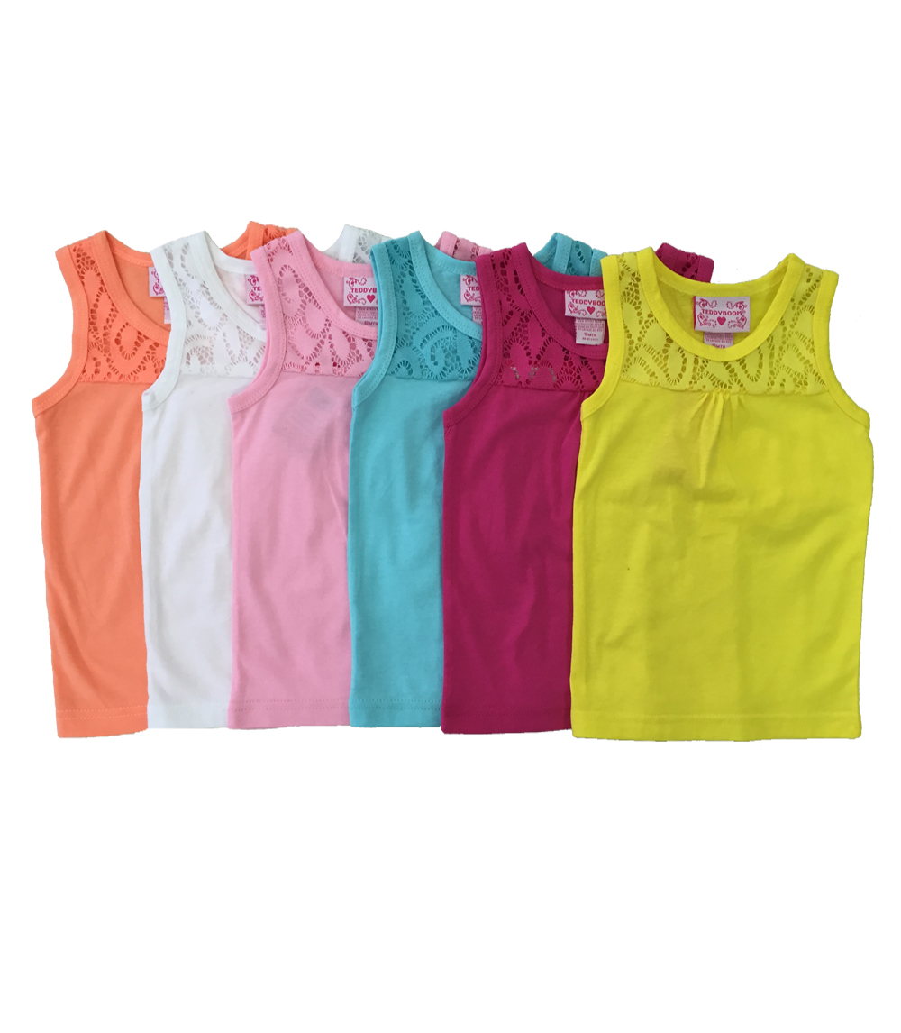 Girls Tank Tops - Size: 2T-4T (3 dz minimum)