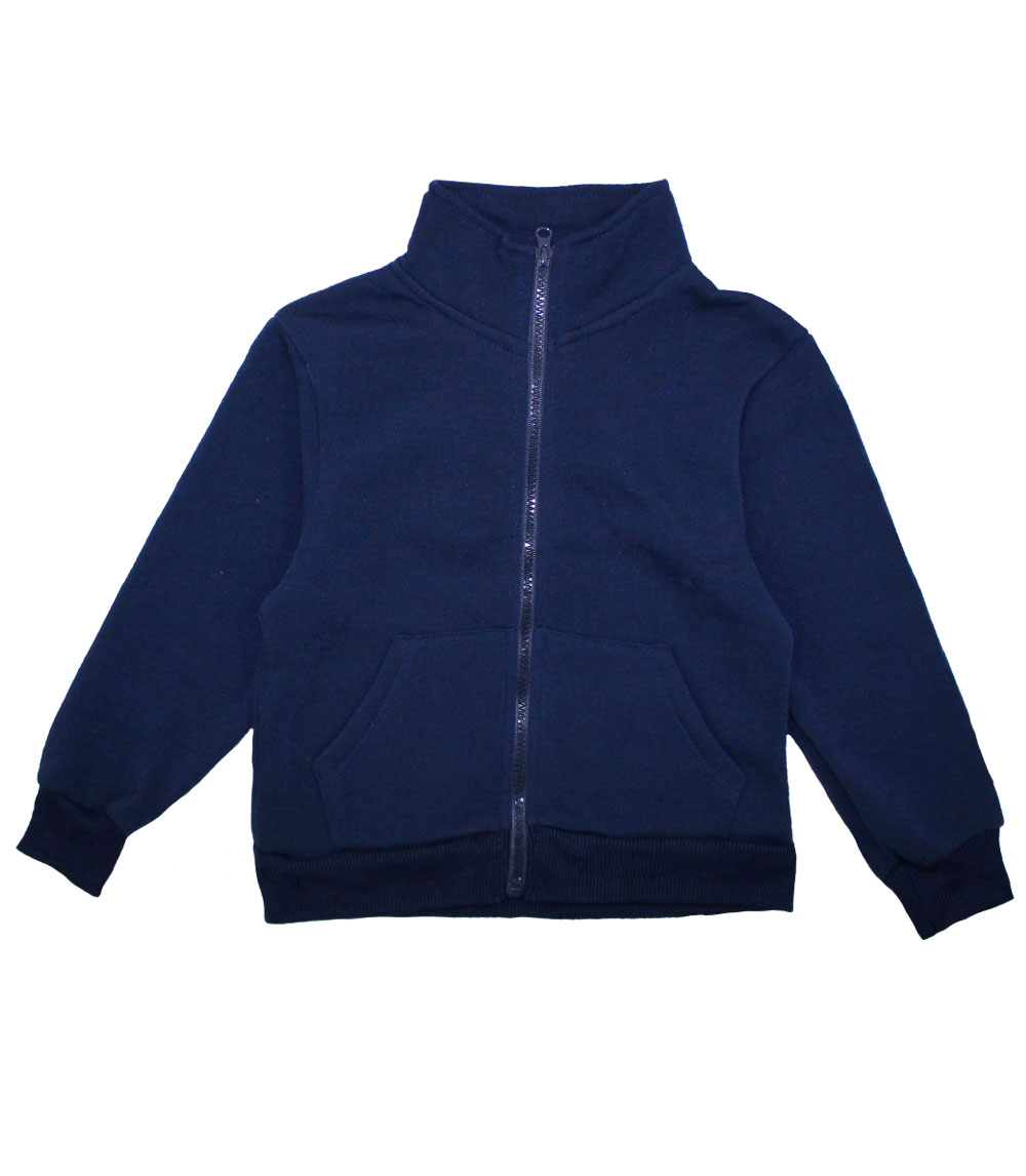 Zip Front Fleece Jacket Navy