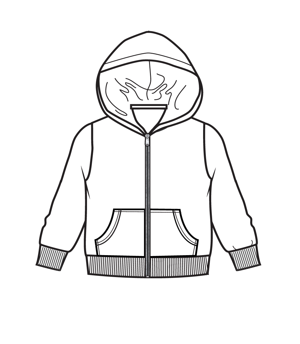 Zip Front Fleece Hoodie Jacket White