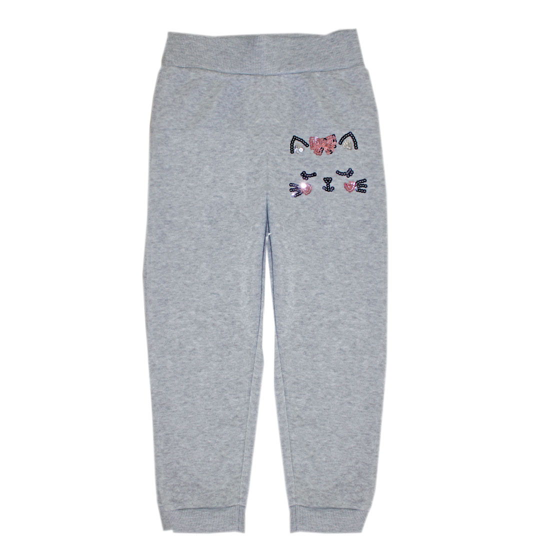 GIRLS PINK 4-6X Cat Sequin Fleece Jogger