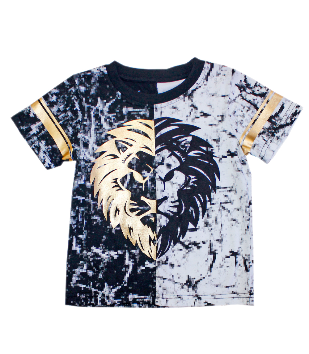 Gold Foil Black/White Lion Top