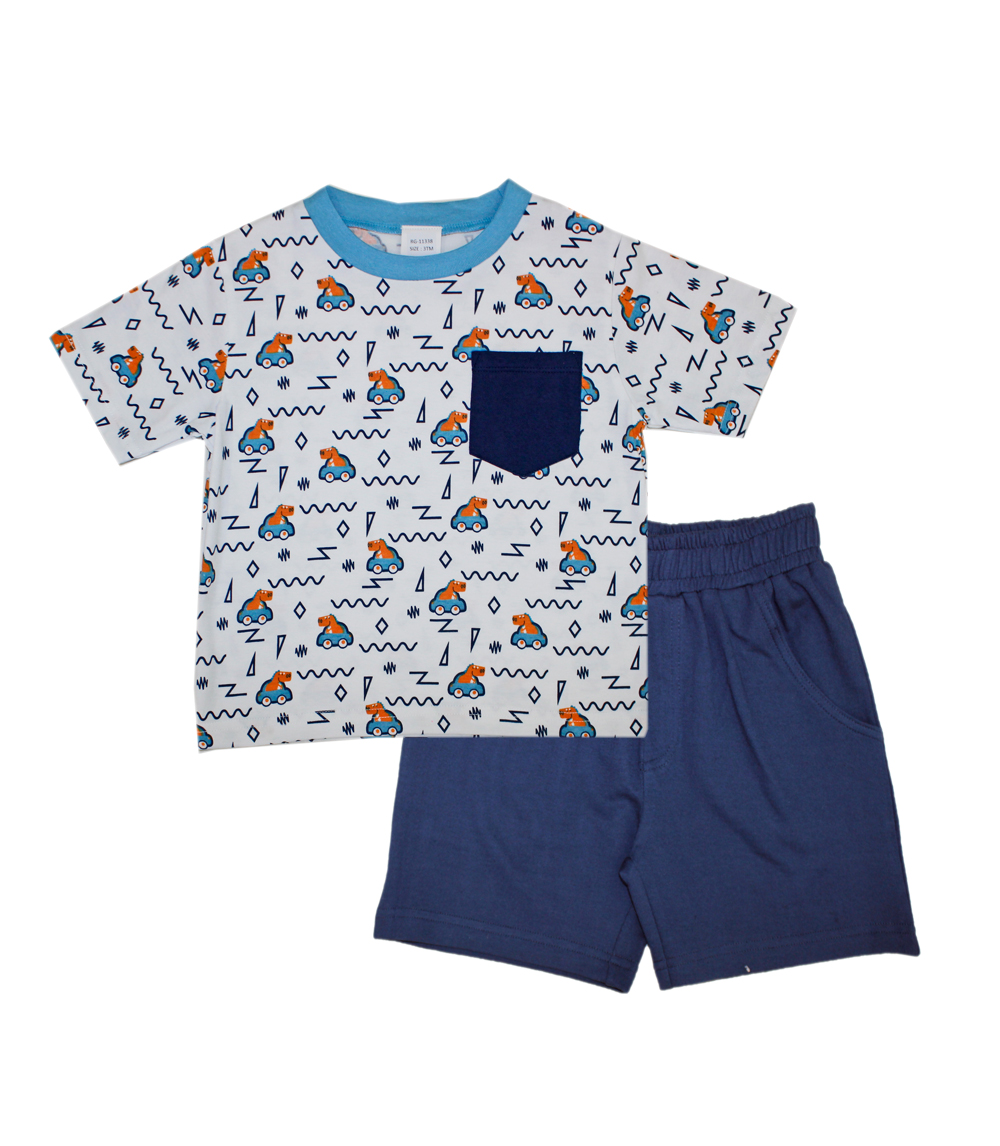 TEDDY BOOM Infant Jersey Top and French Terry Shorts