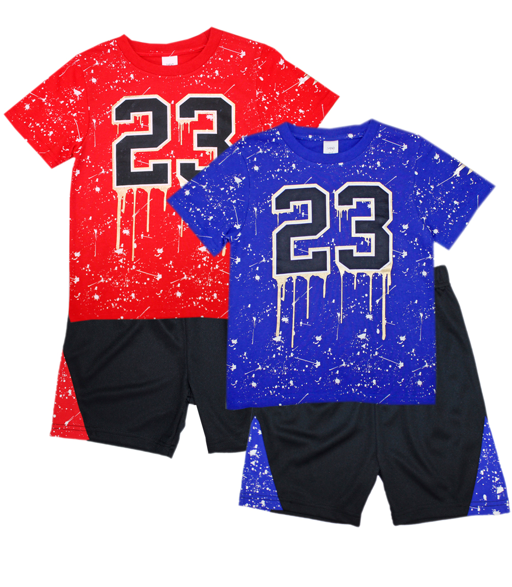 S1OPE Infant Jersey Top with Athletic Shorts