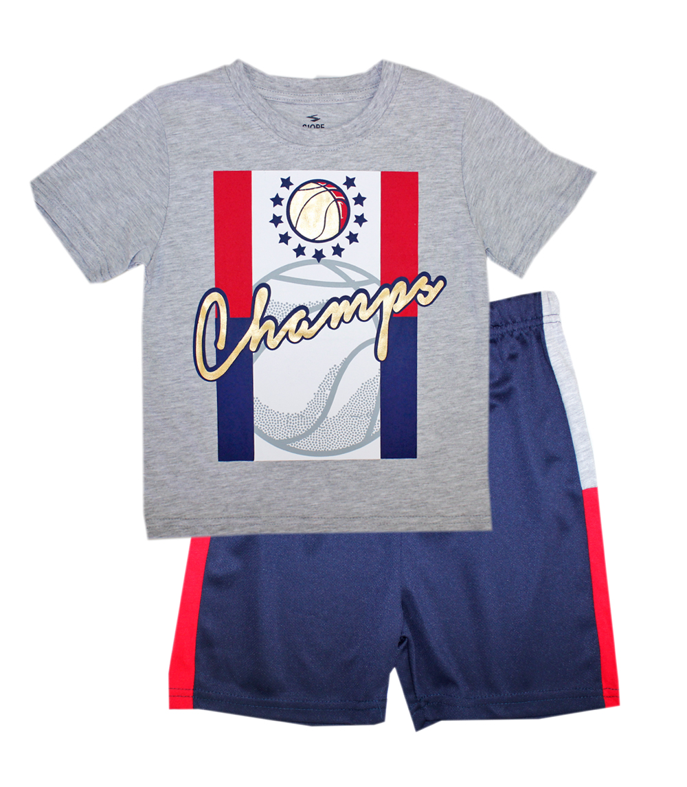 S1OPE Toddler Champs Athletic Mesh Short Sets
