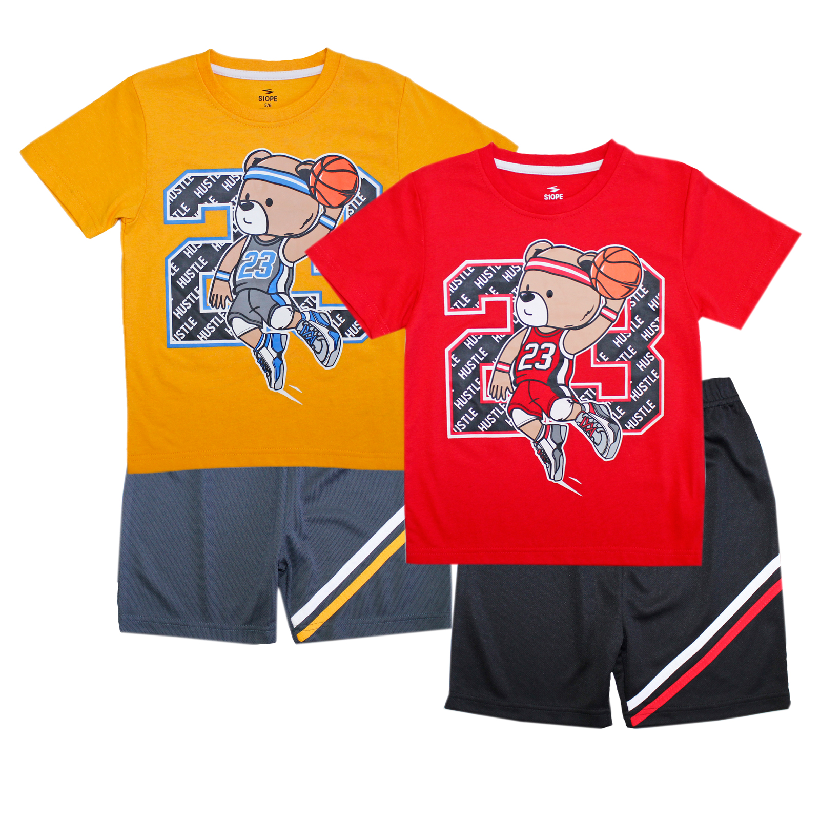 S1OPE Toddler Bear Screen Athletic Mesh Short Sets
