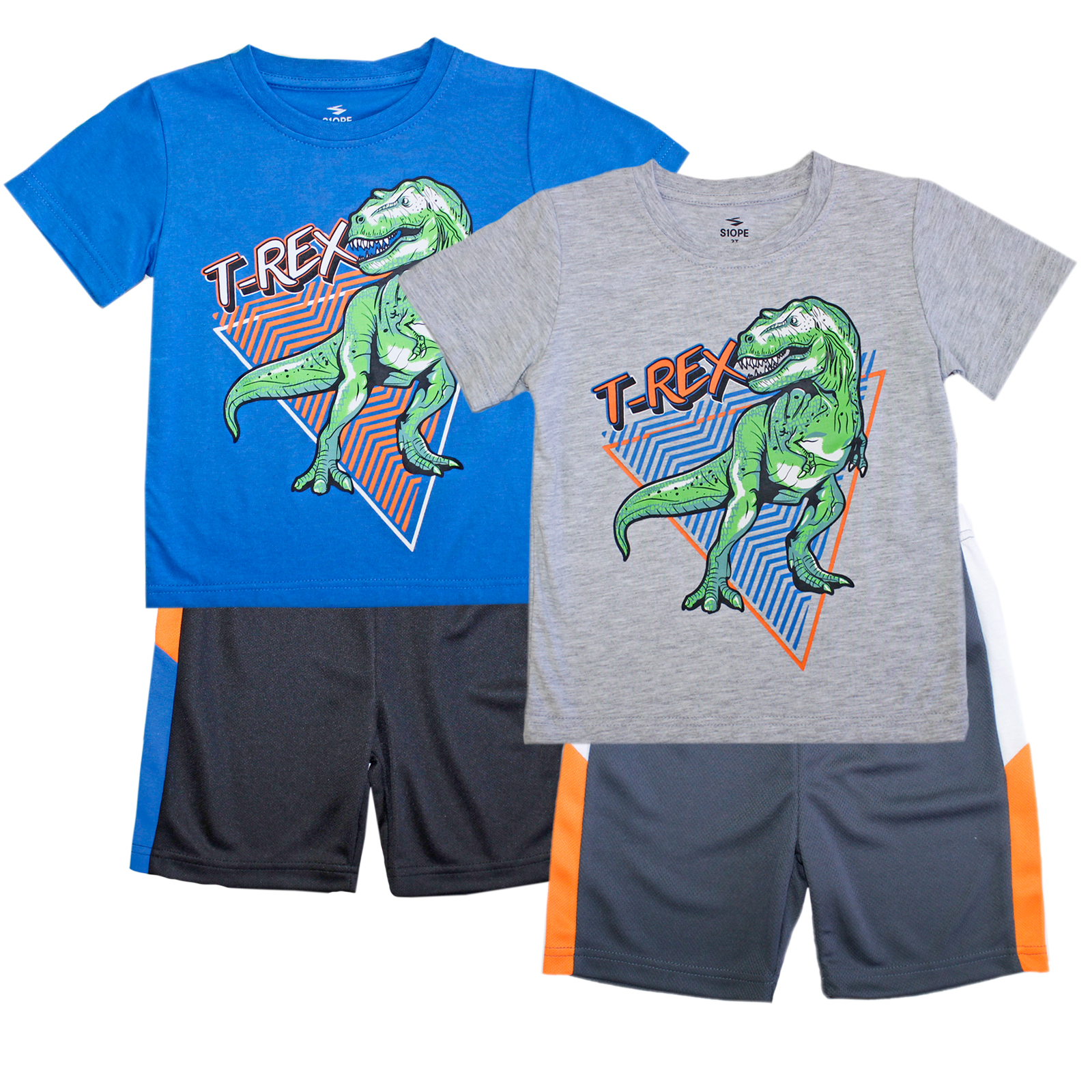 S1OPE Toddler T-Rex Screen Athletic Mesh Short Sets