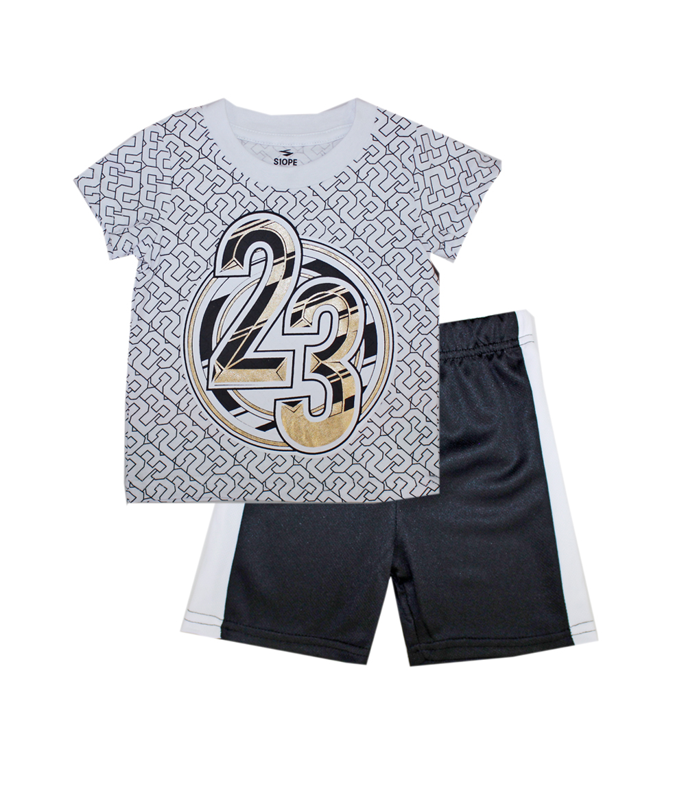 S1OPE Infant 23 Allover Screen Top with Athletic Mesh Shorts