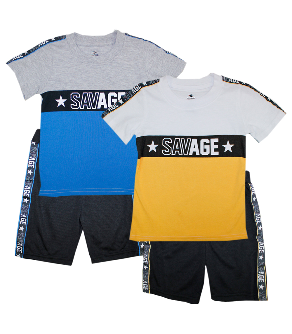 Jersey Top with Athletic Shorts