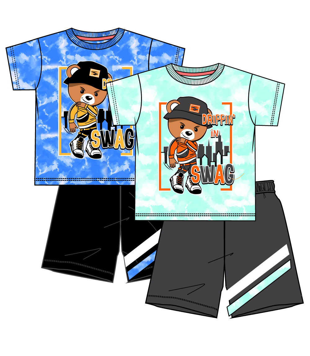 S1OPE Toddler Screen Athletic Mesh Short Sets