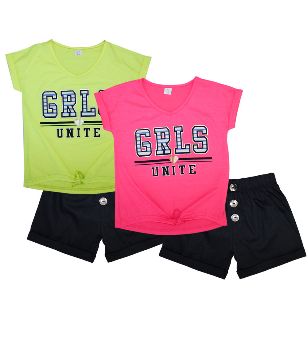 GIRLS PINK Toddler GRLS Unite Screen Top & Shorts