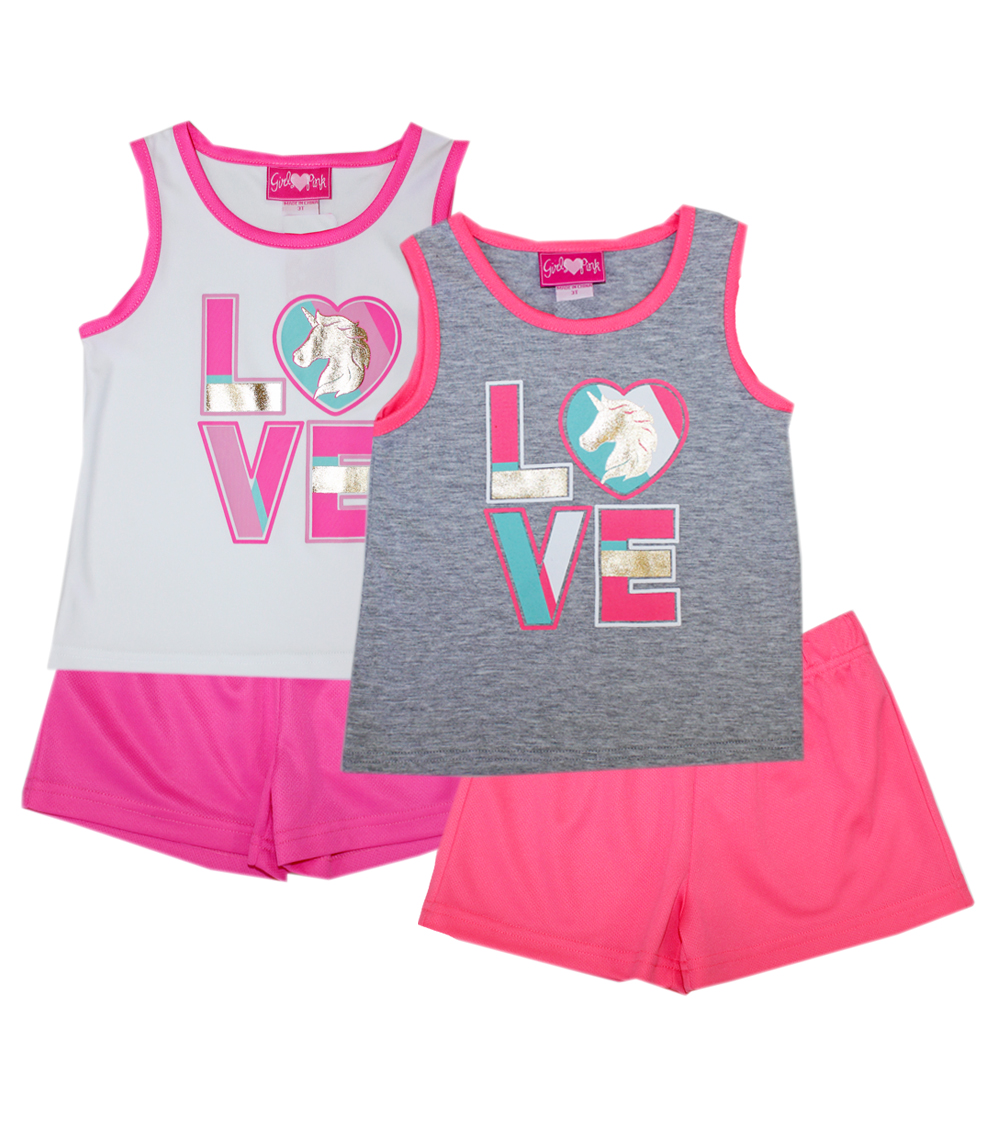 GIRLS PINK Toddler Love Screen Top and Shorts