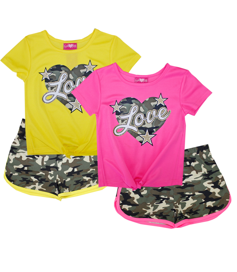 GIRLS PINK 4-6X Love Screen Top and Shorts