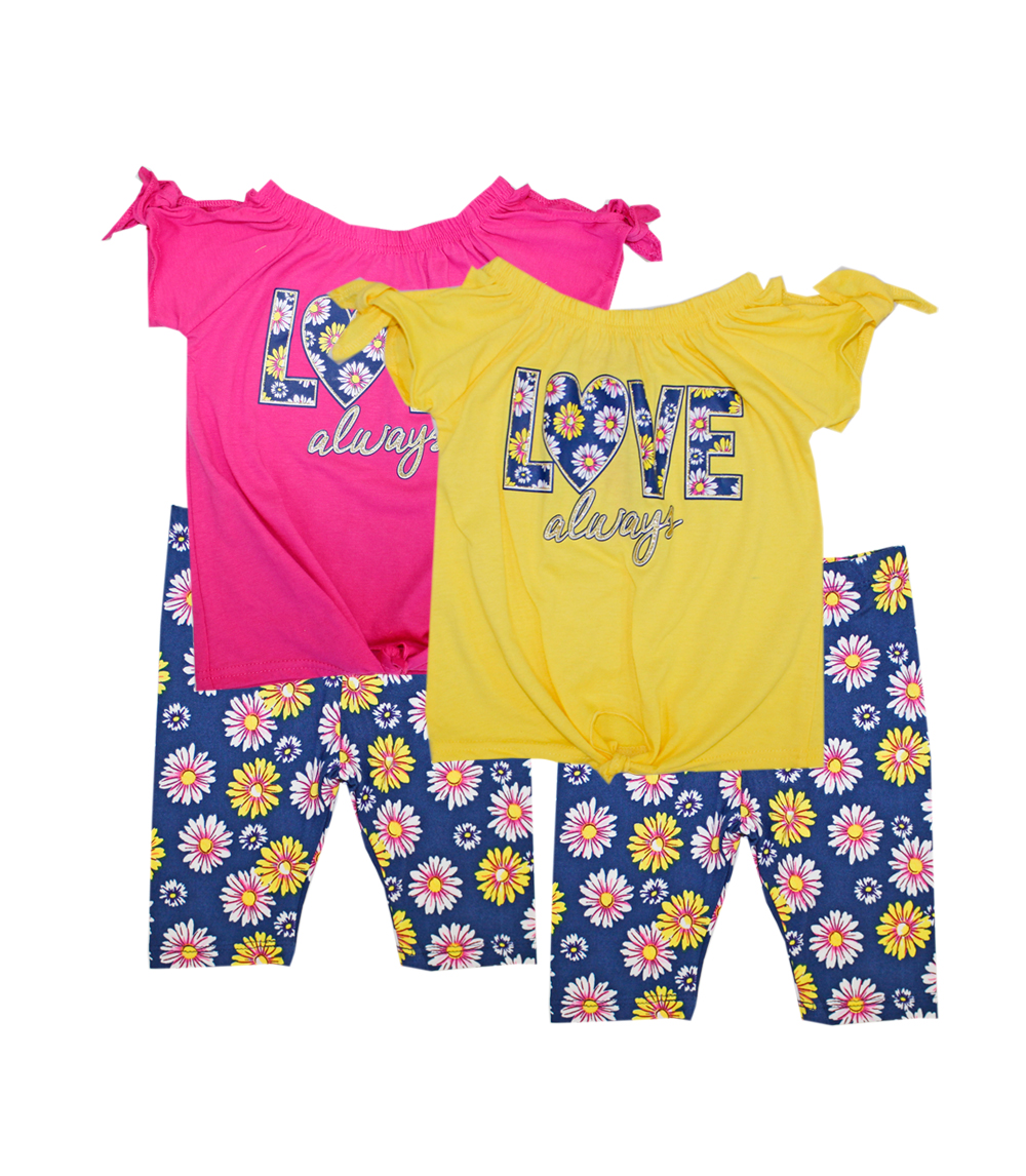 GIRLS PINK 7-16 Love Always Screen Top w Biker Legging
