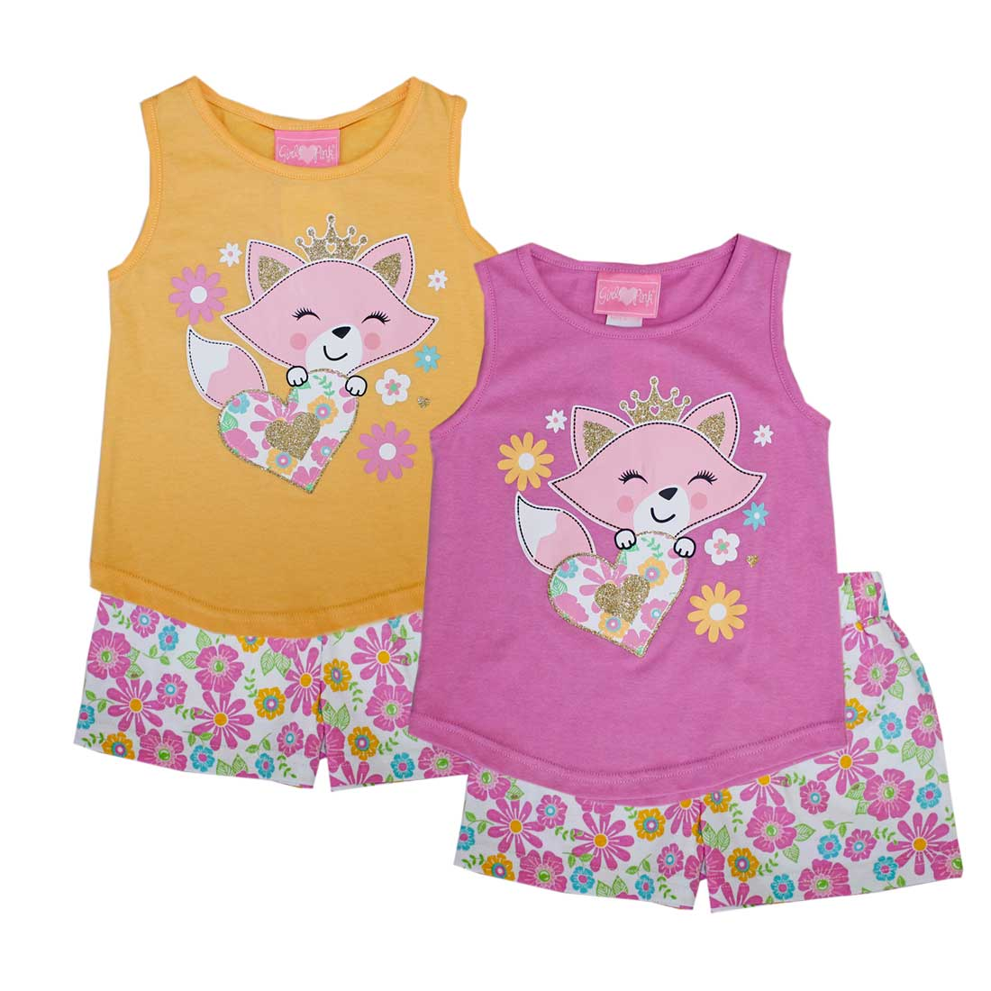 GIRLS PINK Fox Princess Tank Top Short Set-2264601