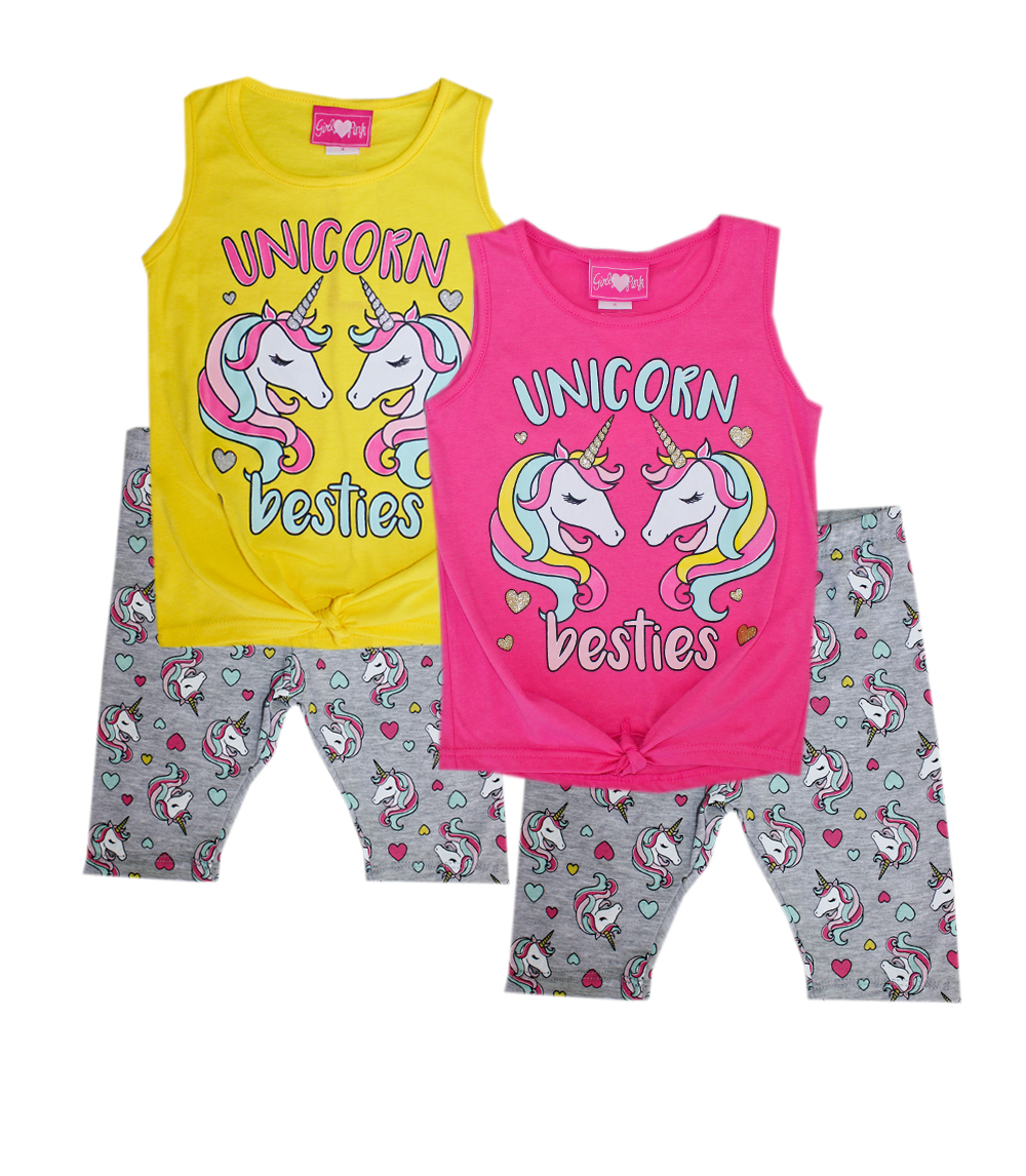 GIRLS PINK Infant Unicorn Besties Top w Legging