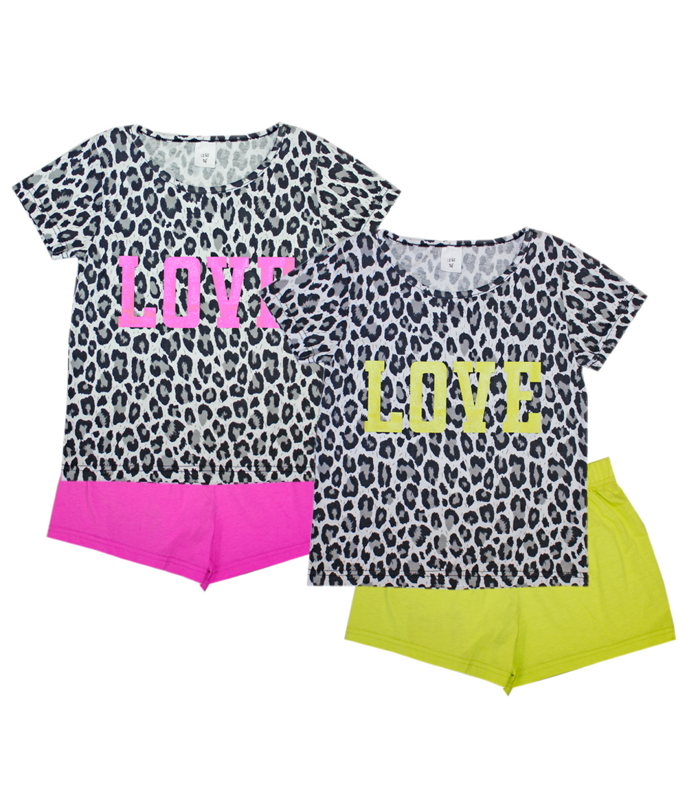 GIRLS PINK Infant Leopard Print Top and Shorts
