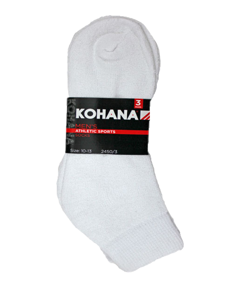 Socks - 6-8 1/2 White Ankle Sport Socks
