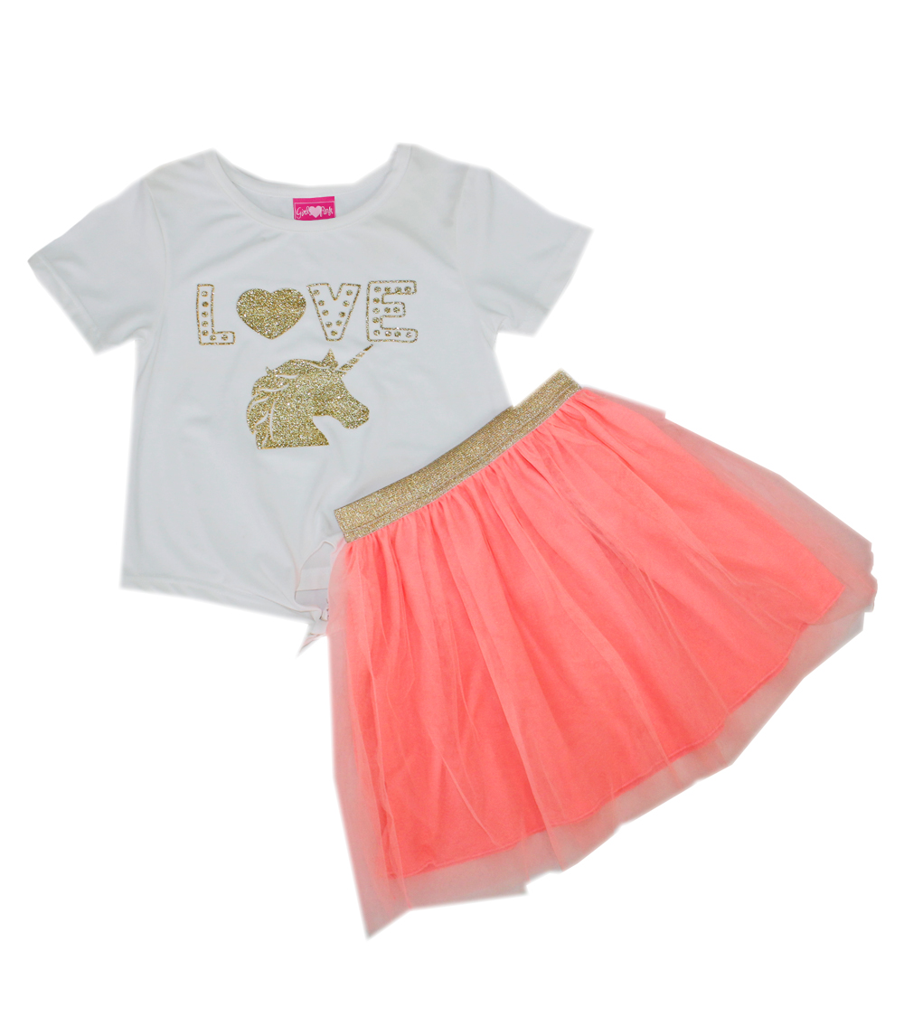 Girls Tutu Skirt Set