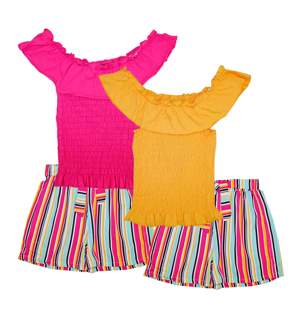 GIRLS PINK 7-16 Smoked Top & Soft Shorts