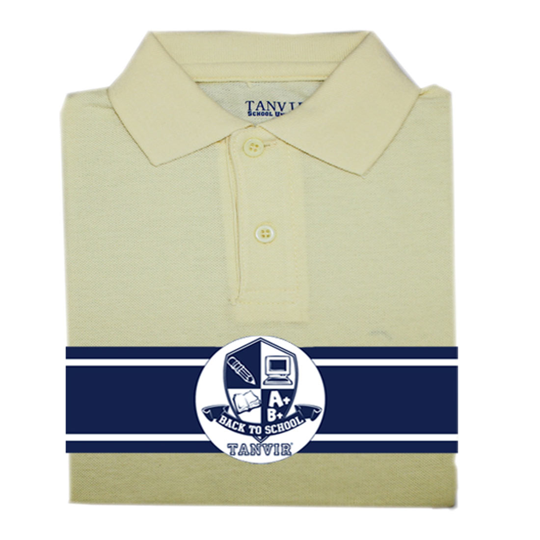 Girls Picot Polo Yellow Tanvir 2-4