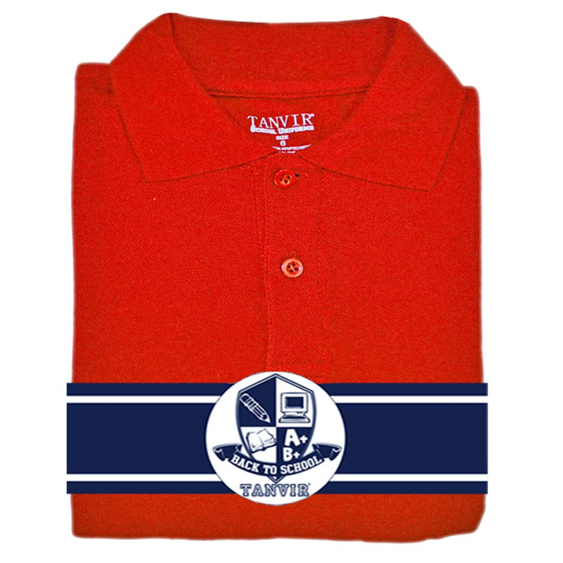 Girls Picot Polo Red Tanvir 2-4