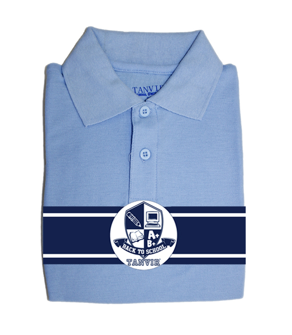 Girls Picot Polo Blue Tanvir 2-4