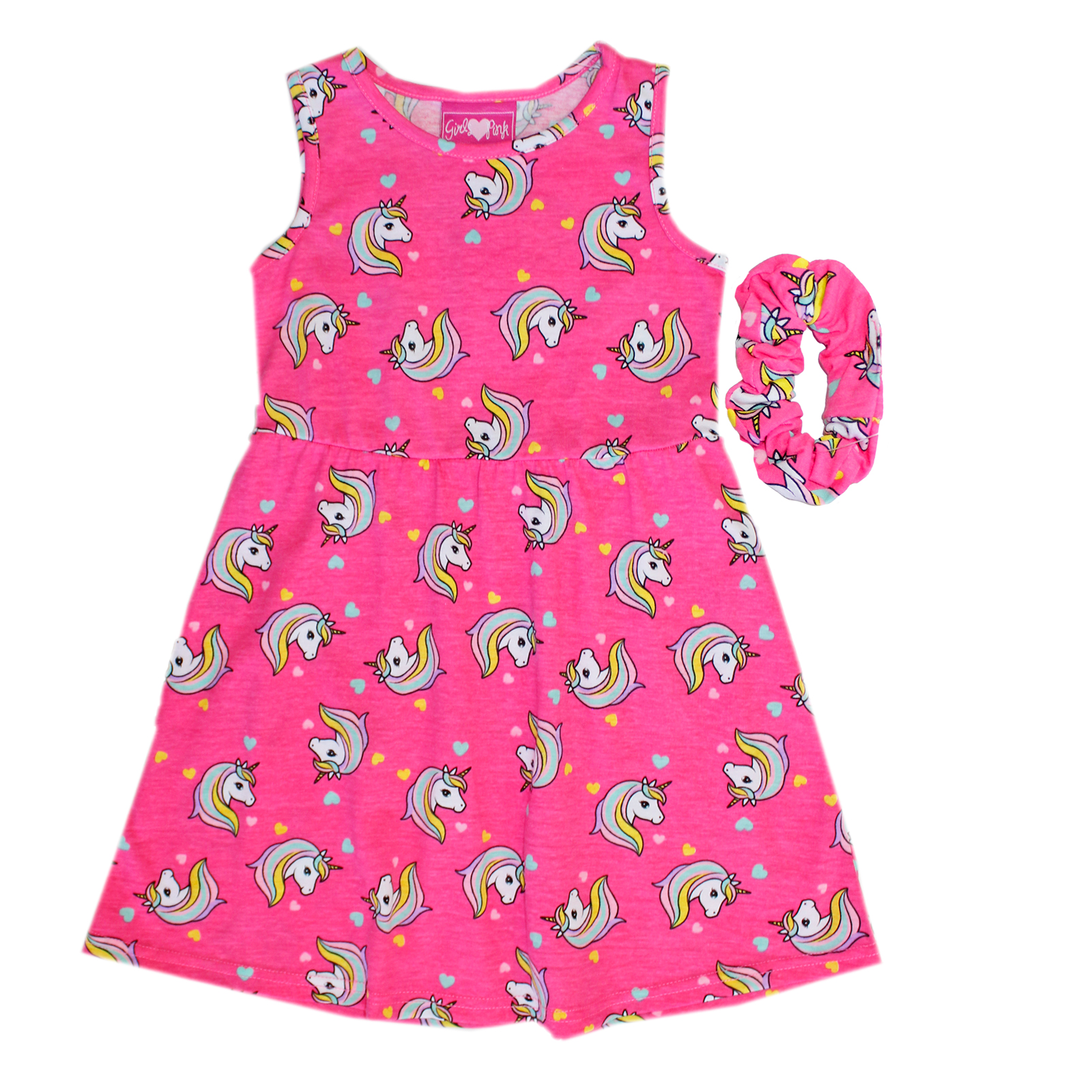 GIRLS PINK Toddler Sleeveless Dress W Scrunchie