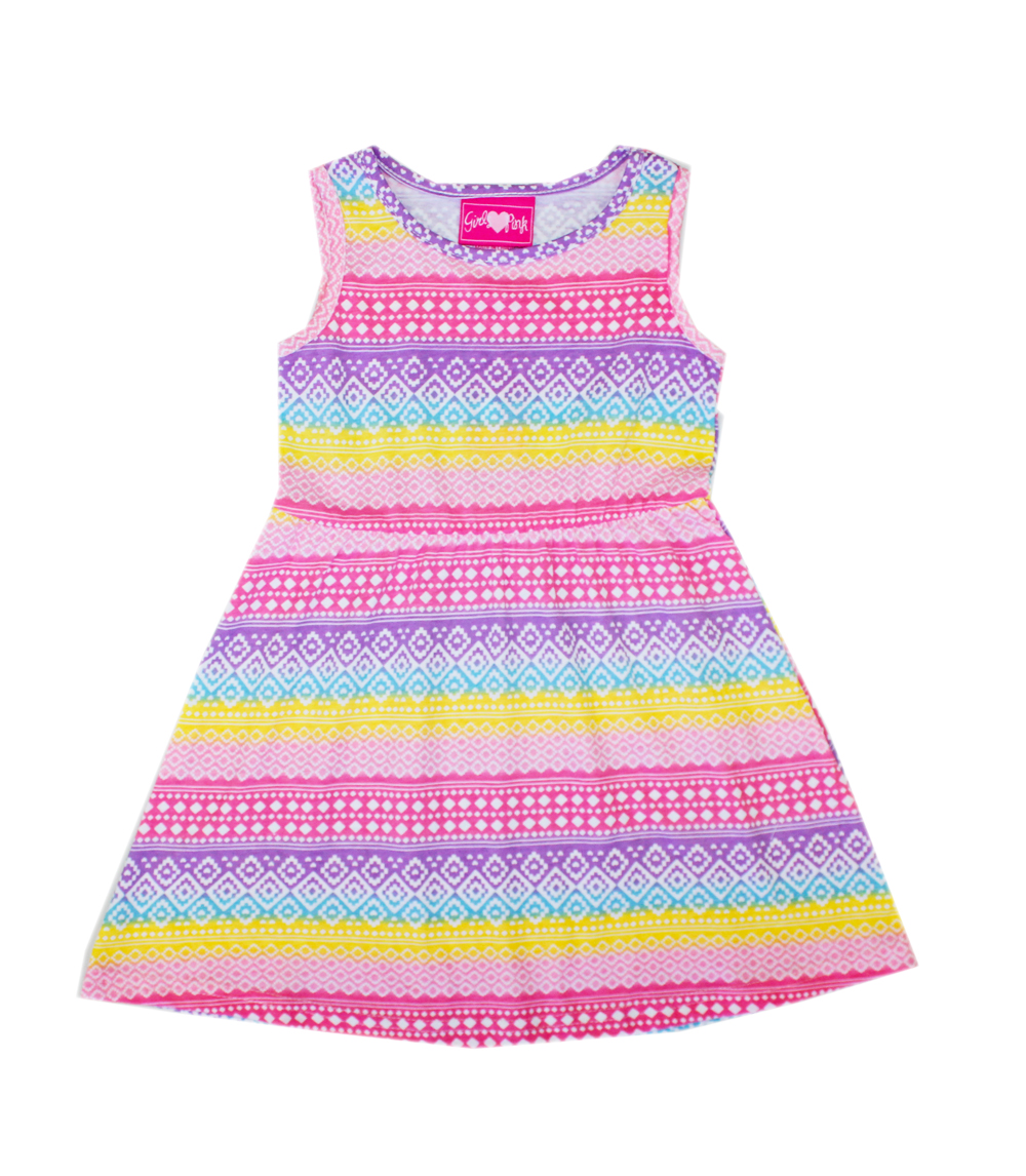 GIRLS PINK Toddler Printed Sleeveless Dress