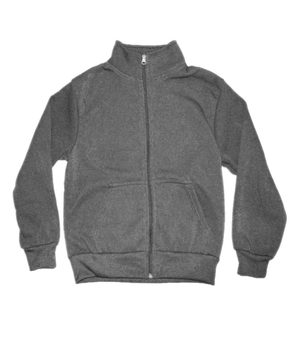 Zip Front Collar Jacket Heather Grey