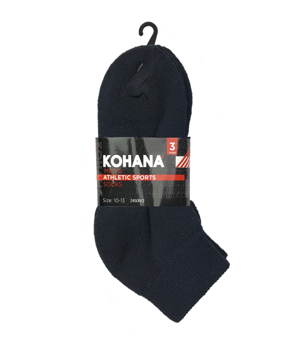 Socks - 10-13 Navy Ankle Sport Socks
