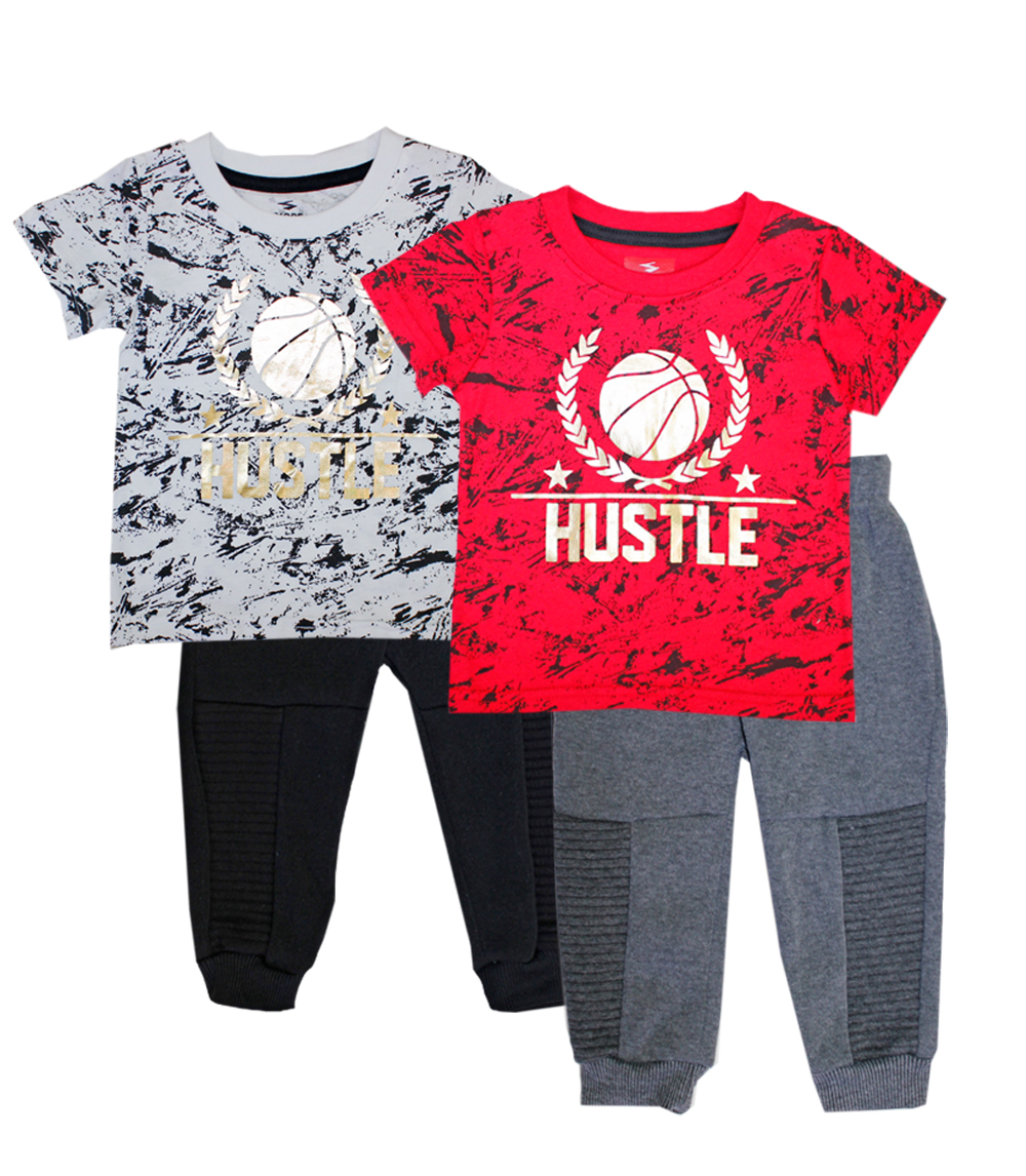 S1ope Infant Boys Hustle Screen Top W Jogger Pant