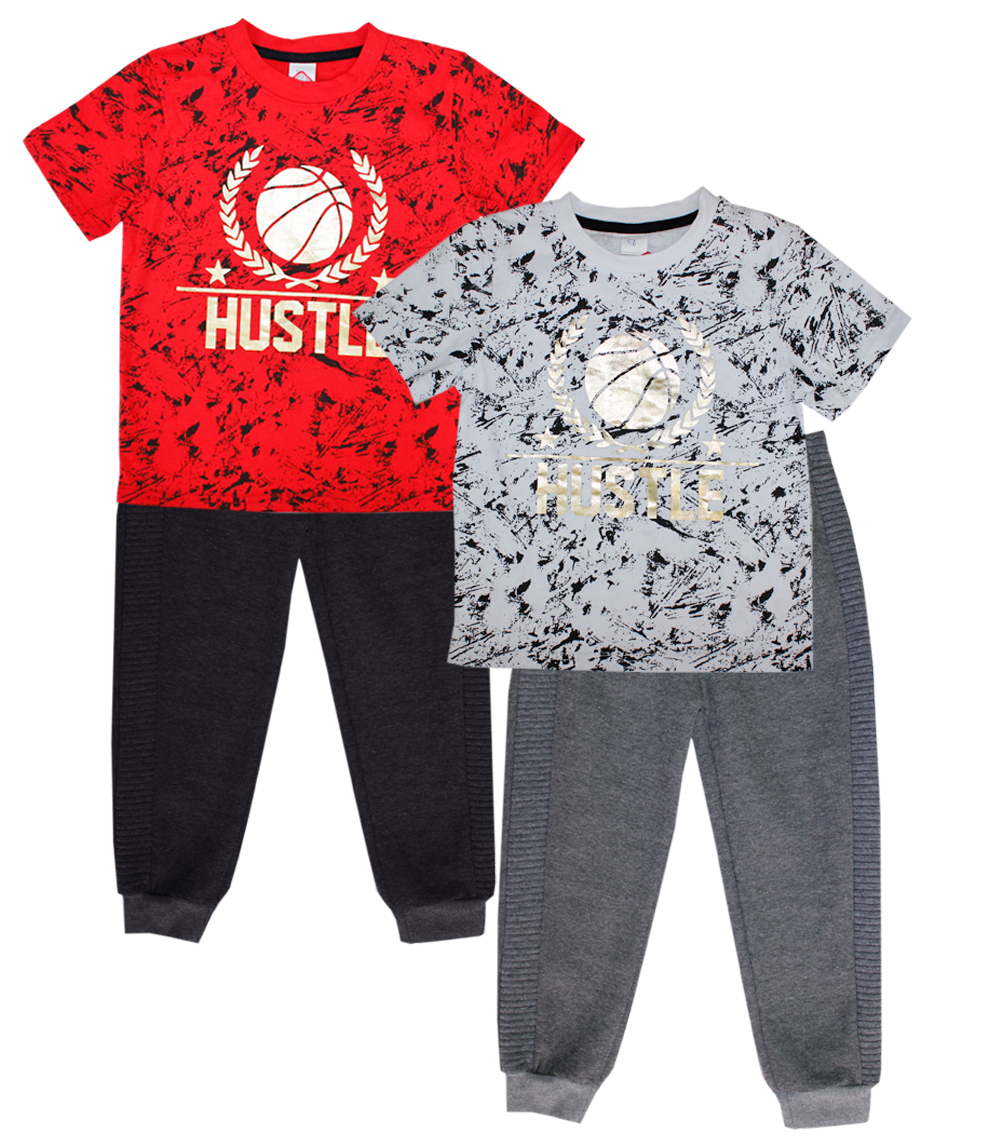 S1ope 4-7 Boys Hustle Screen Top W Jogger Pant