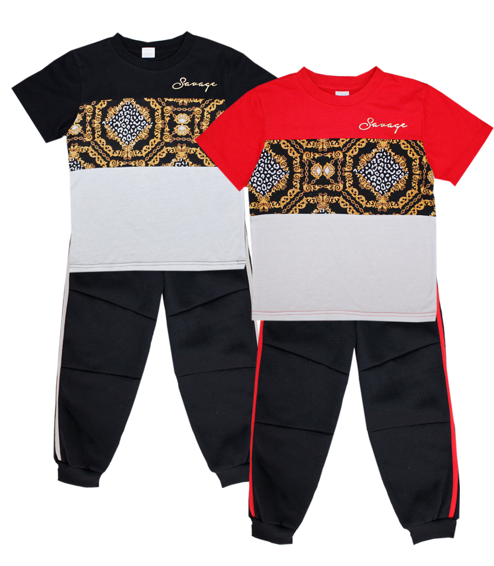 S1OPE 4-7 Boys Savage Screen Top W Jogger Pant