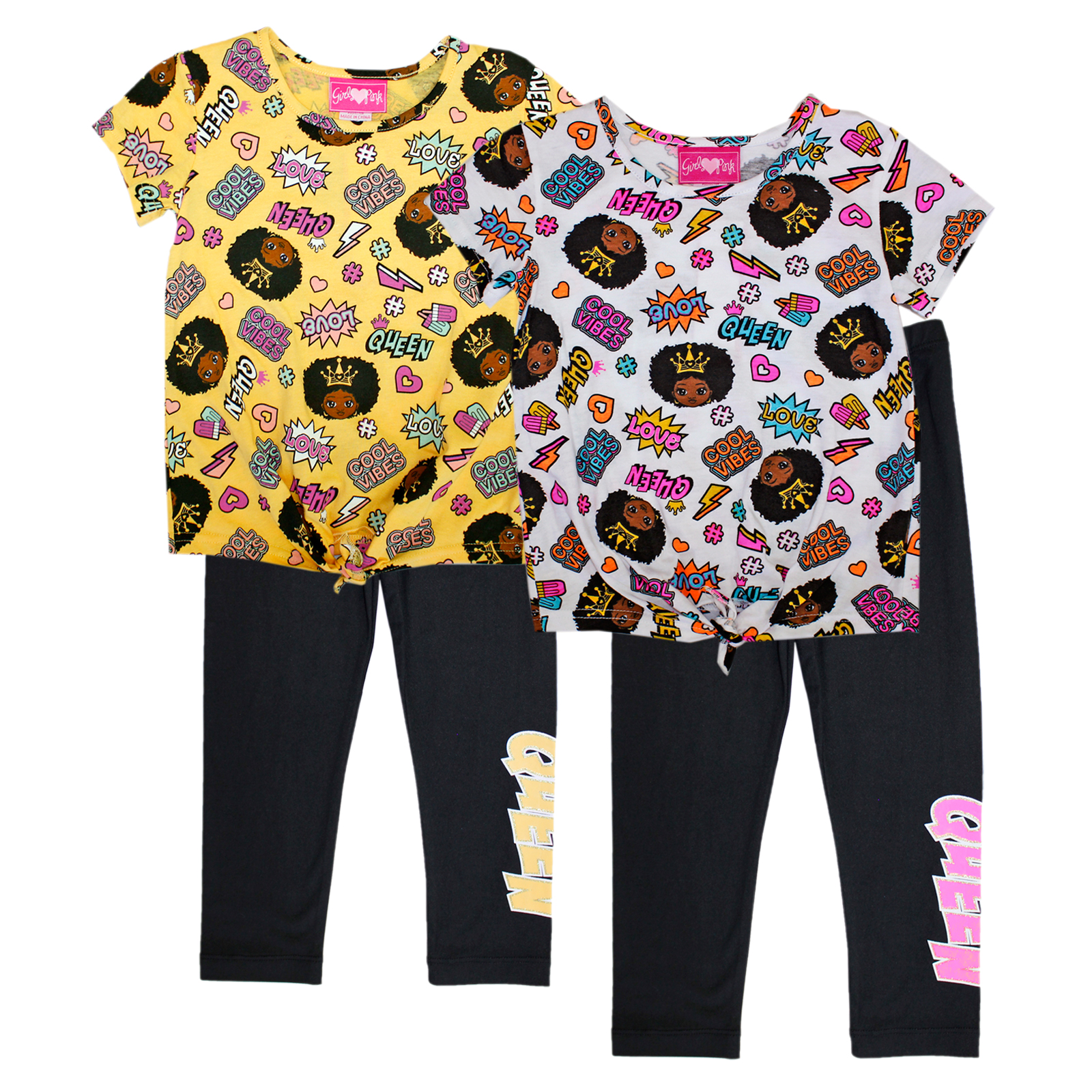 GIRLS PINK Toddler Screen Print Top w Legging