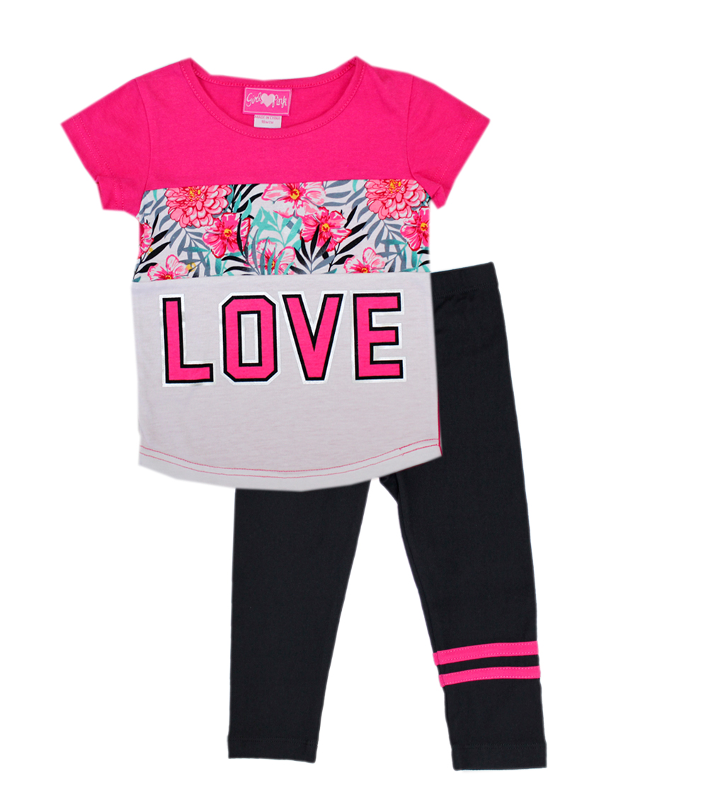 GIRLS PINK Infant Love Cut And Sew Top and Legging