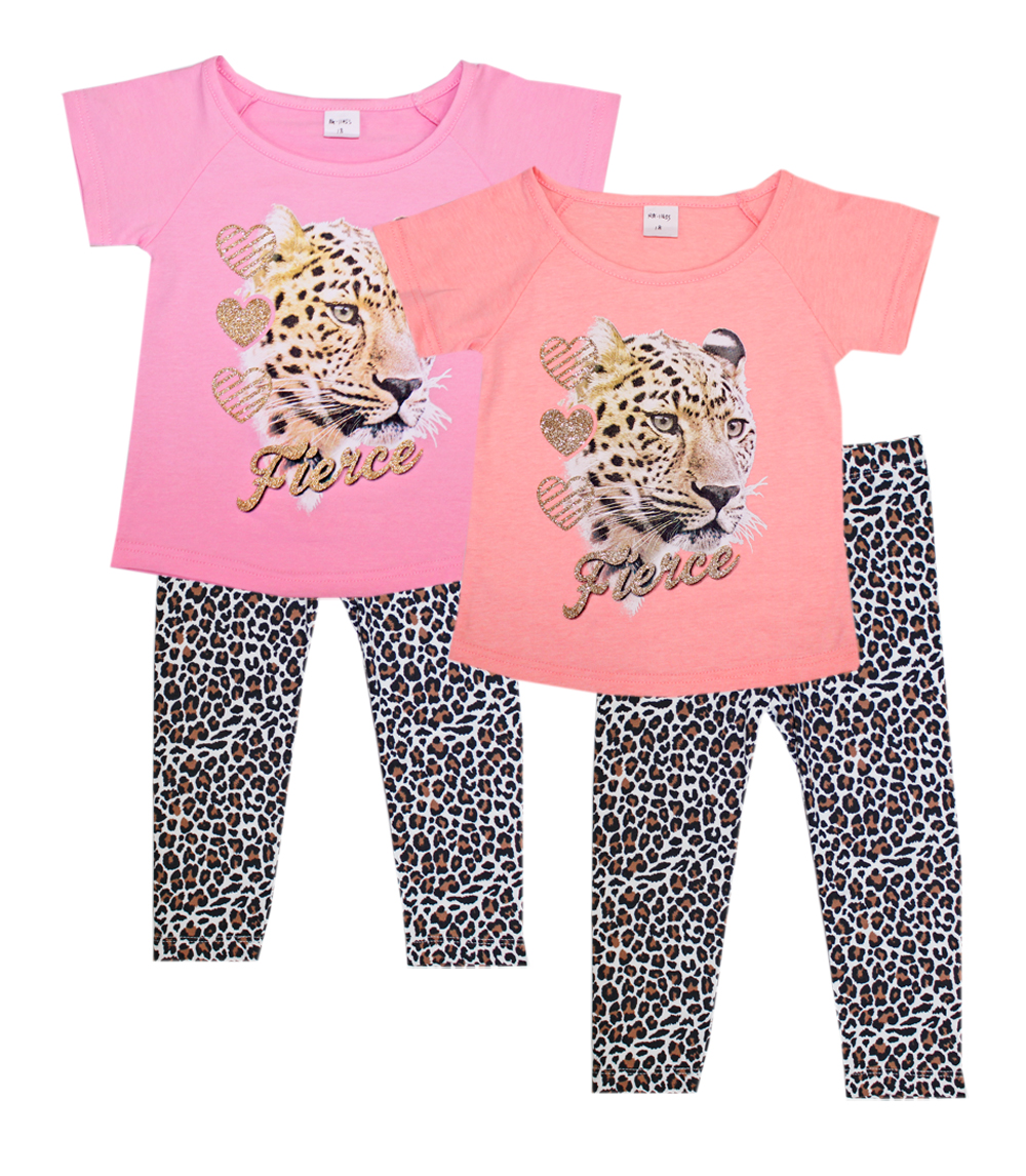 GIRLS PINK Infant Fierce Top w Animal Print Legging