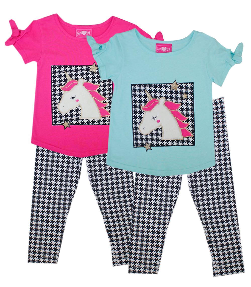 GIRLS PINK Infant Unicorn Screen Top and Legging