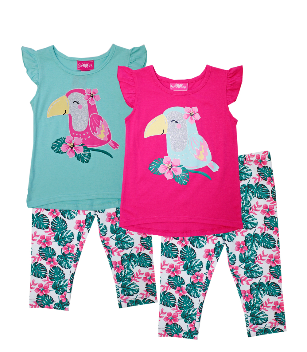 GIRLS PINK Infant Glitter Screen Top w Legging