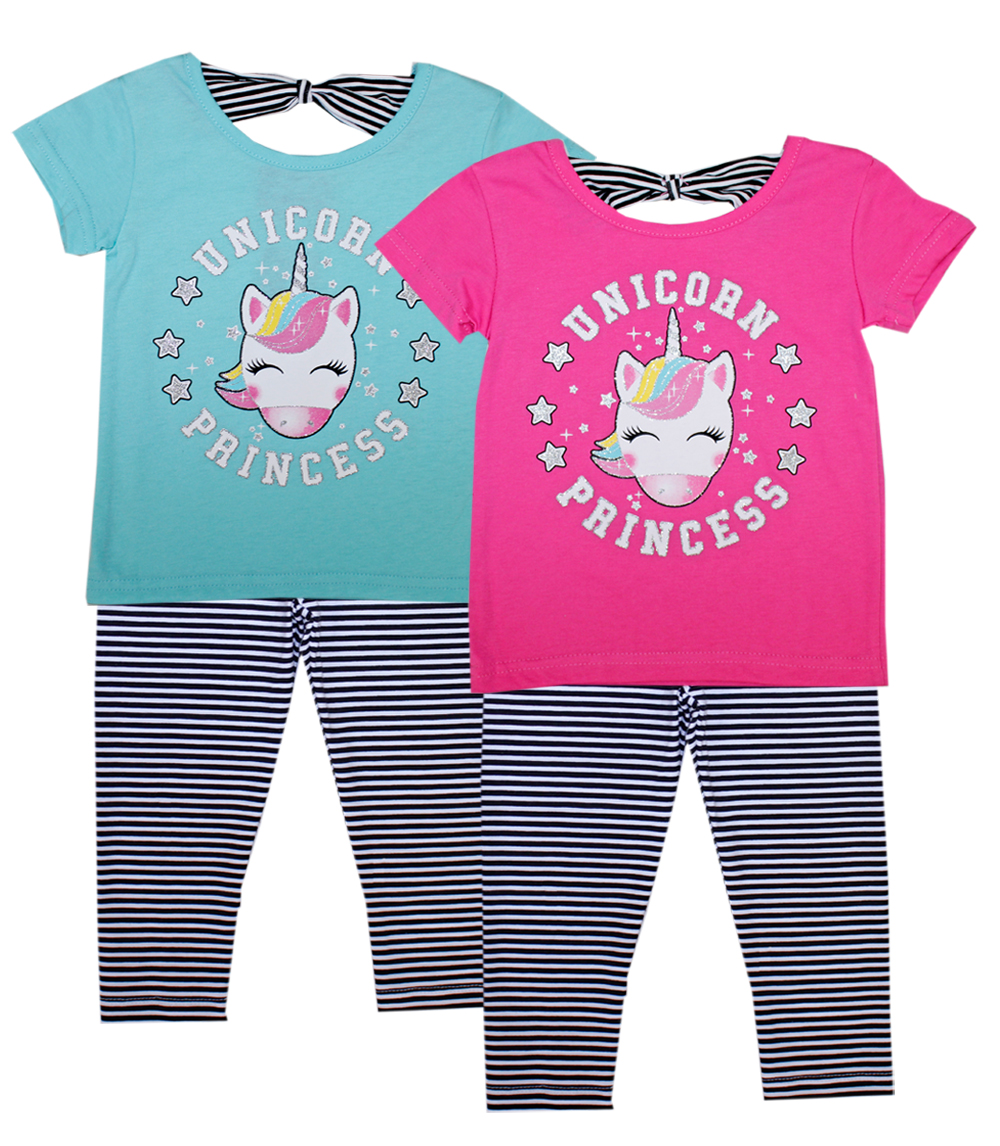 GIRLS PINK Infant Unicorn Screen Top w Legging