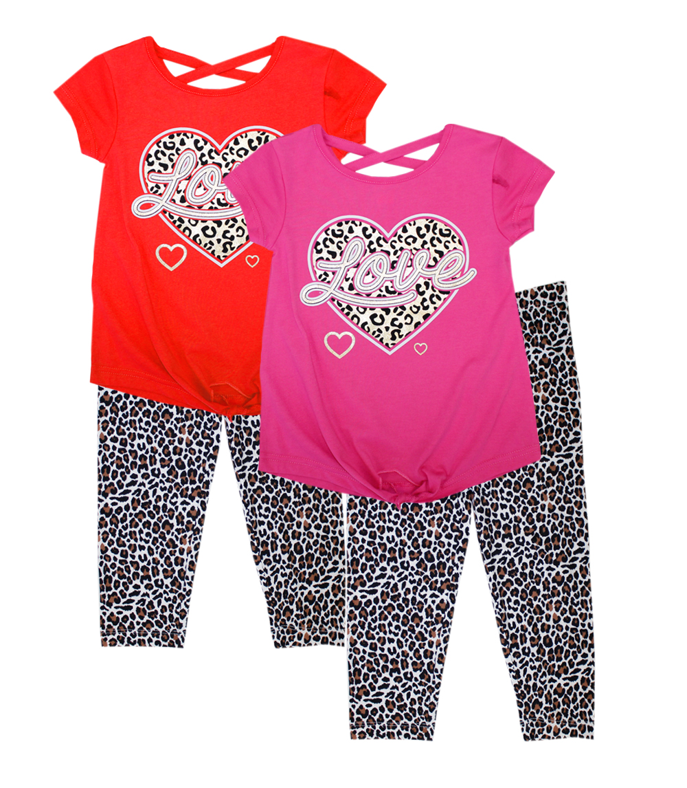 GIRLS PINK Infant Love Screen Tie Front Top w Legging