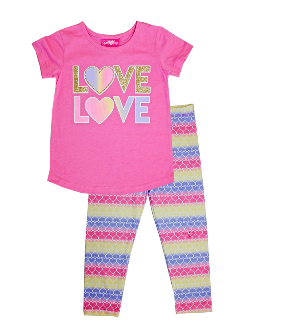 GIRLS PINK Infant Love Screen Top w Legging