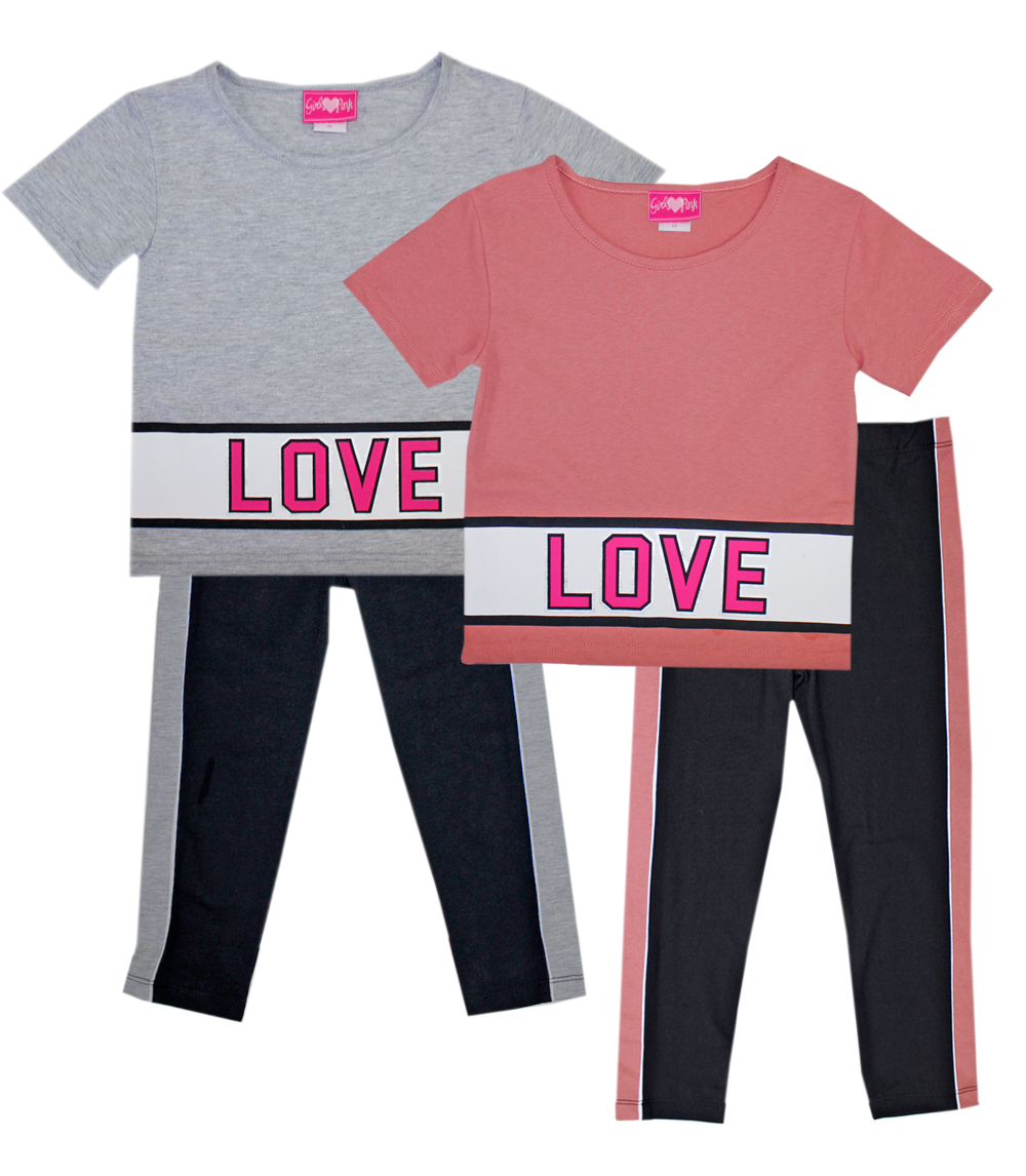 GIRLS PINK Toddler Love Screen Top and Legging