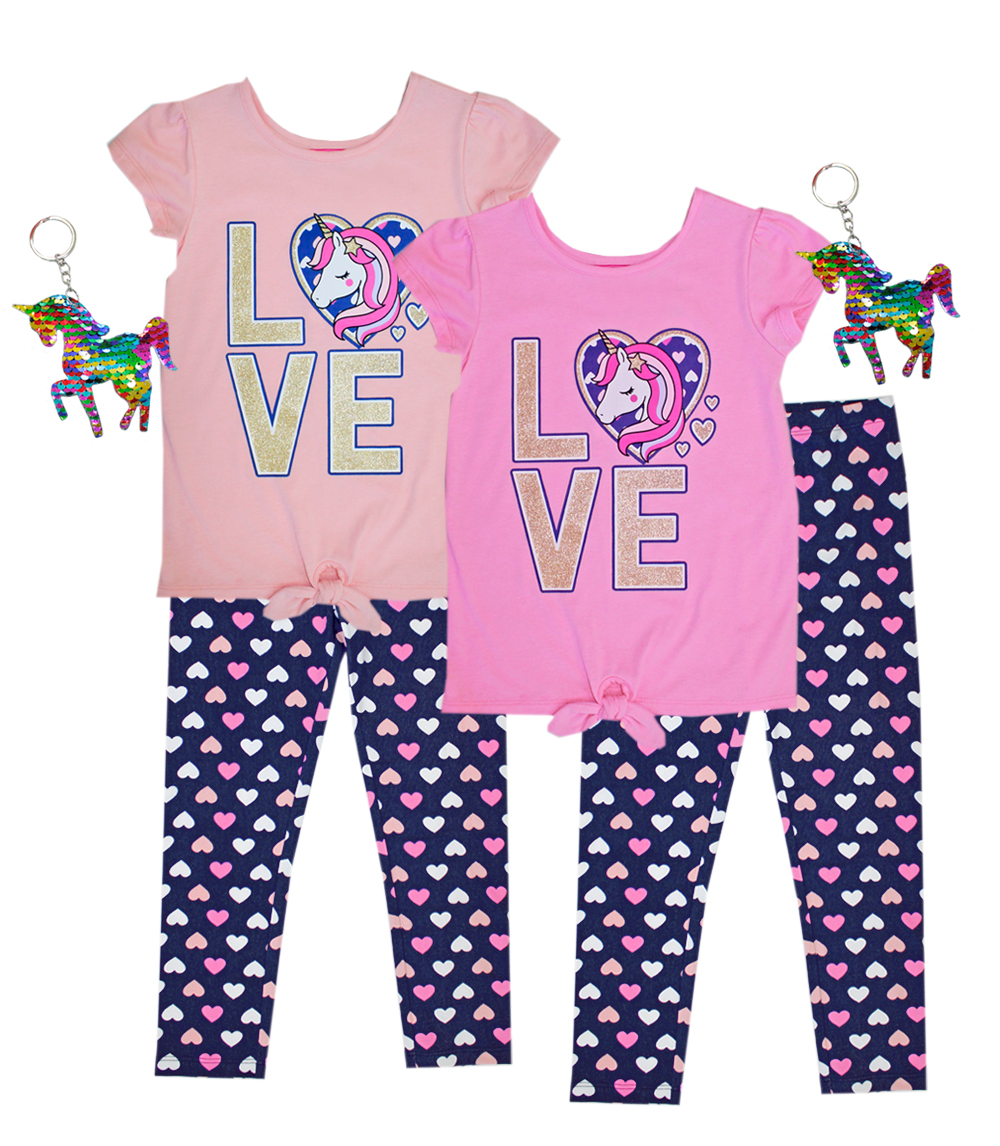 GIRLS PINK 7-16 Love Screen Top and Legging
