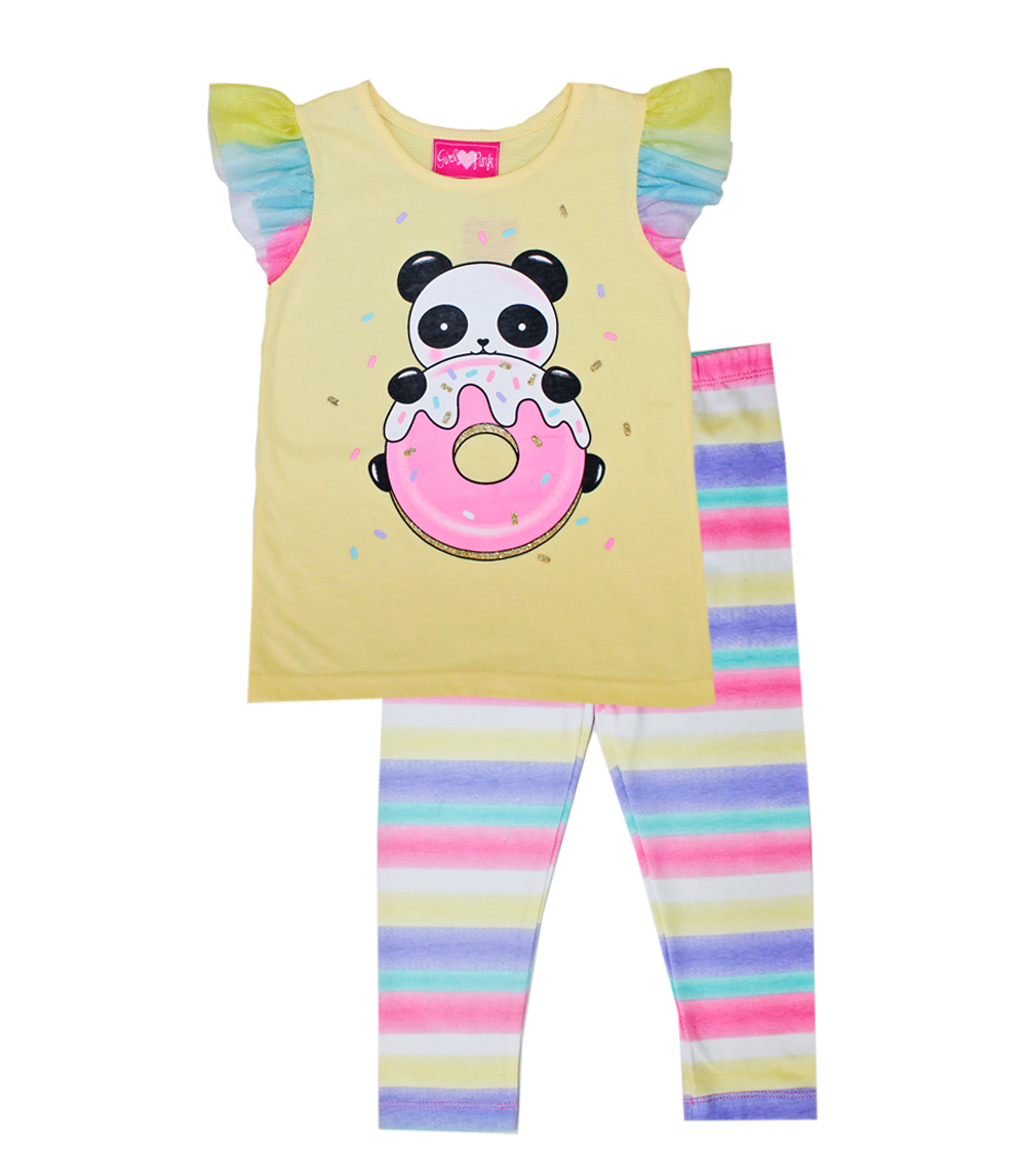 GIRLS PINK Infant Panda Screen Top & Legging