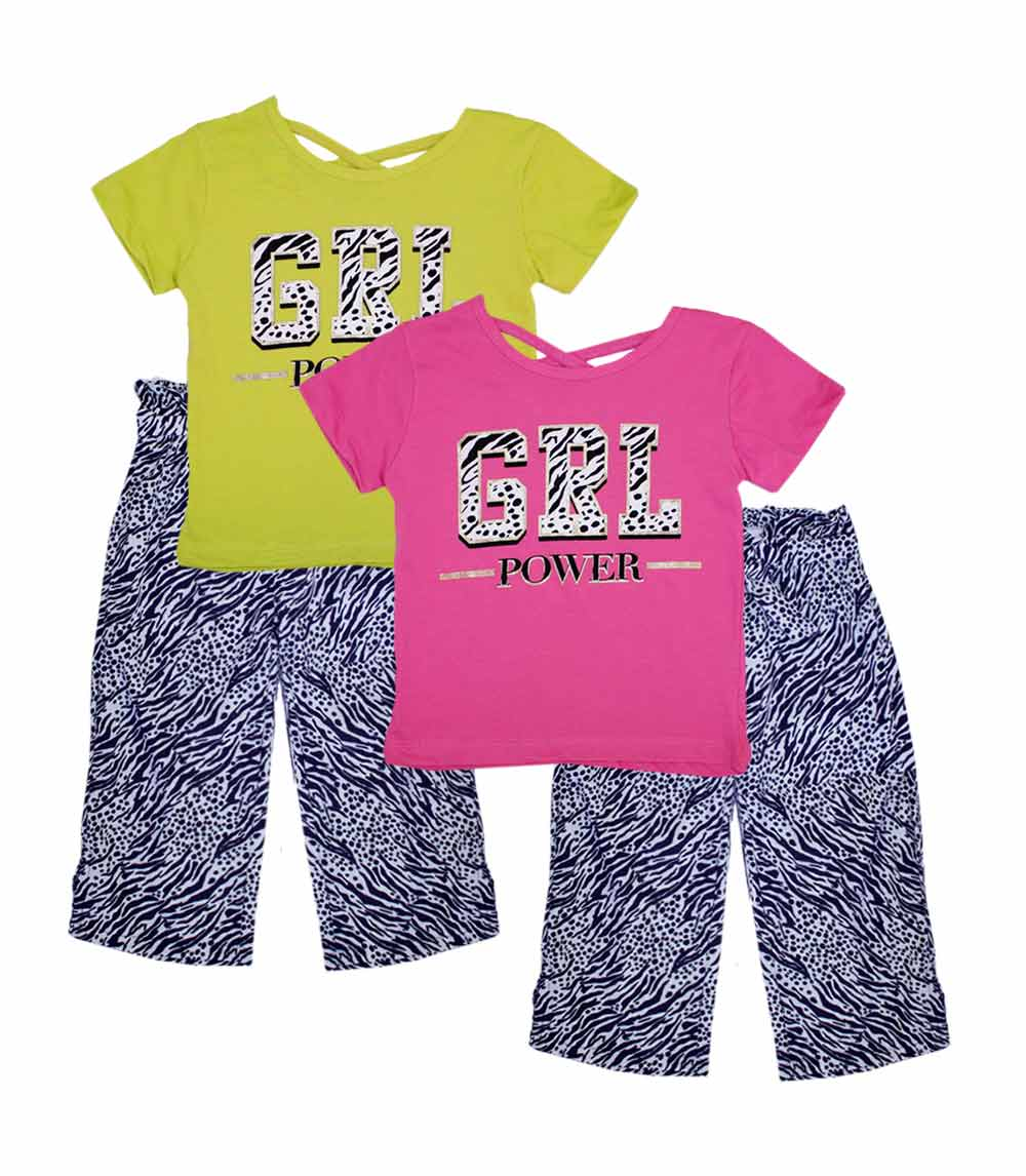 GIRLS PINK Toddler Screen Top w Palazzo Pants