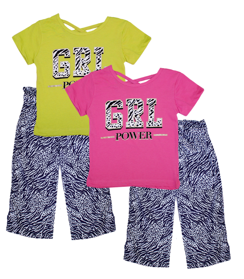 GIRLS PINK 7-16 Screen Top w Palazzo Pants