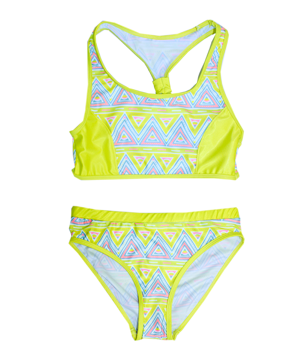 Girls 4-6X Two Piece w Cross Back Top and Panty