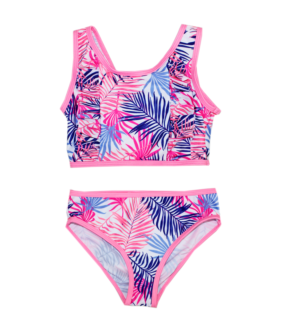 Girls 7-16 Two Piece Swimwear Ruffle in Front with Panty